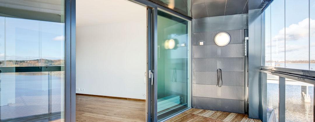 CLEAR Glass Sliding Door